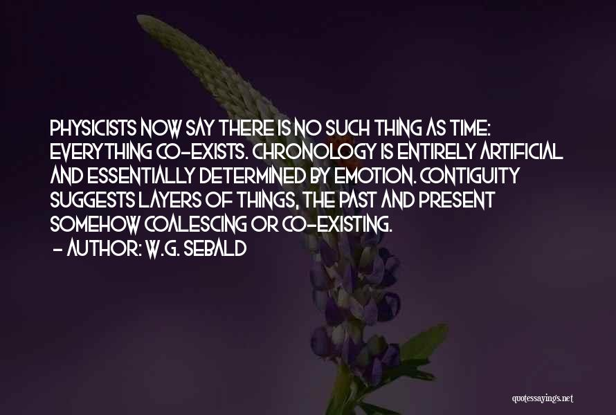 Chronology Quotes By W.G. Sebald