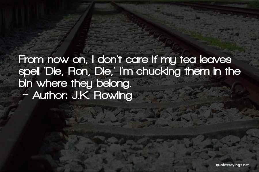 Chucking Quotes By J.K. Rowling