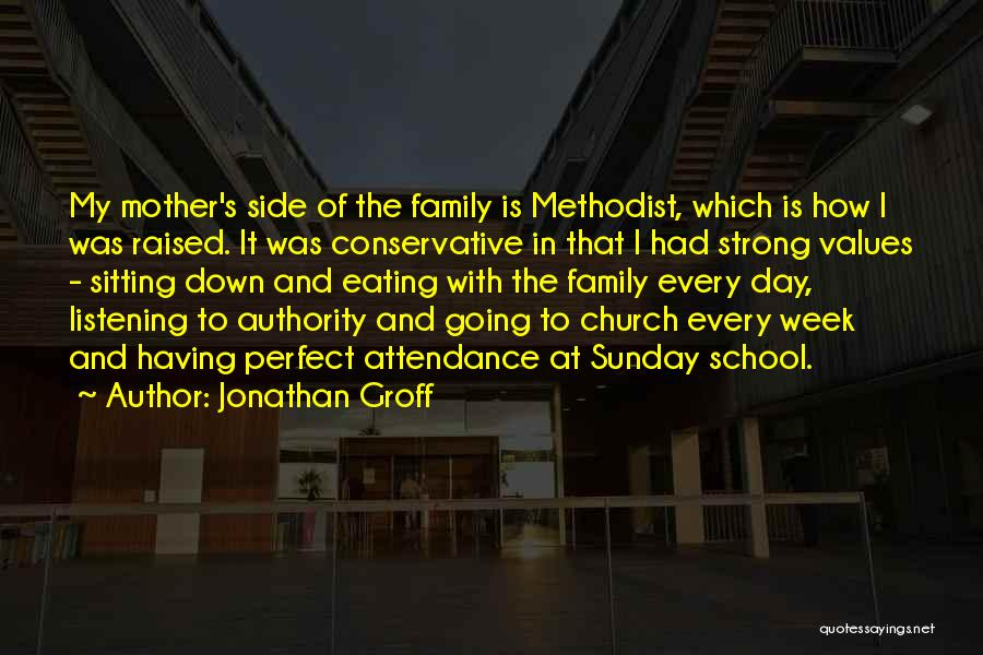 Church Attendance Quotes By Jonathan Groff