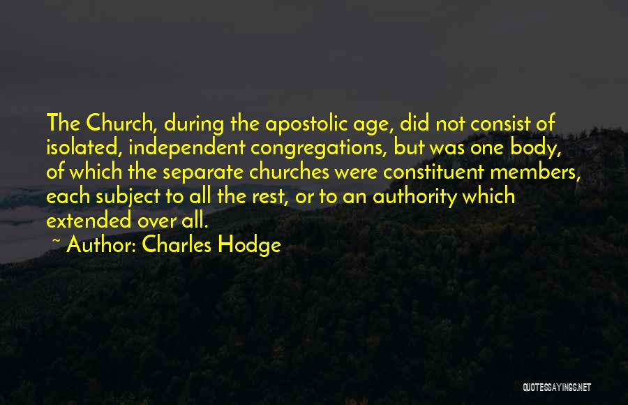 Church Members Quotes By Charles Hodge
