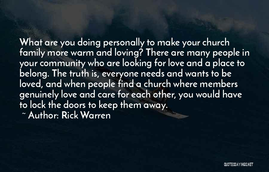 Church Members Quotes By Rick Warren