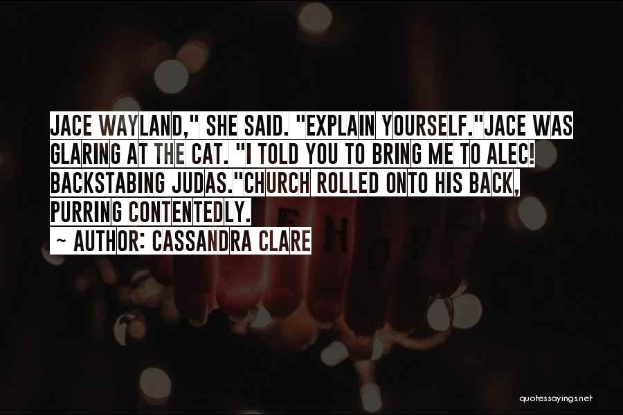 Church The Cat Quotes By Cassandra Clare