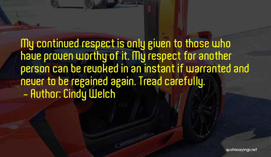 Cindy Welch Quotes 2132513