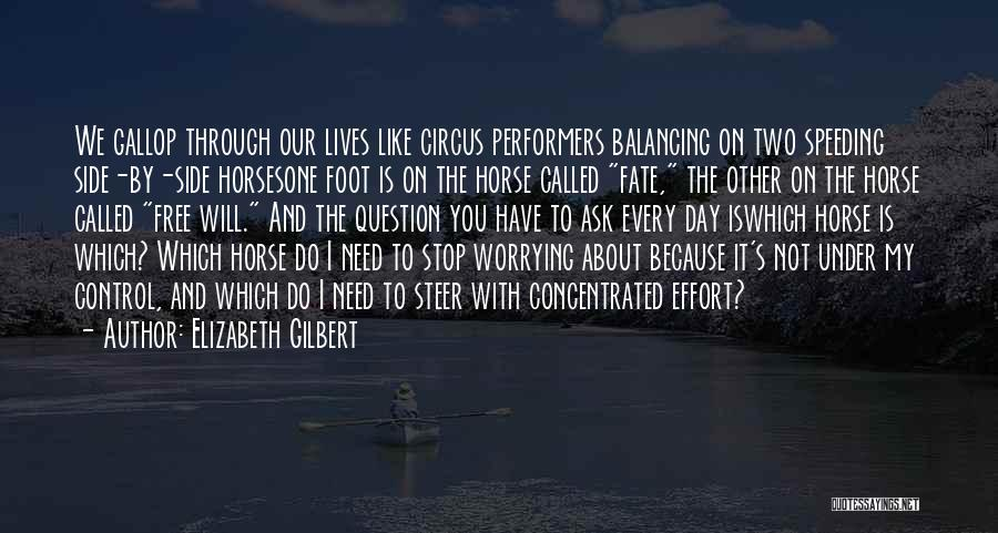 Circus Performers Quotes By Elizabeth Gilbert