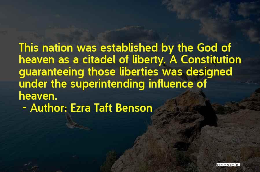 Citadel Quotes By Ezra Taft Benson