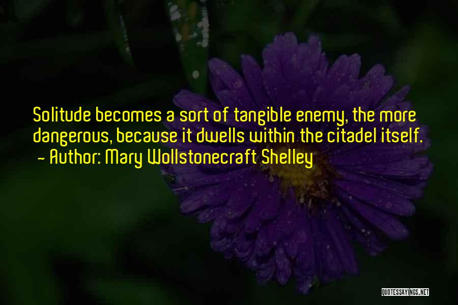 Citadel Quotes By Mary Wollstonecraft Shelley