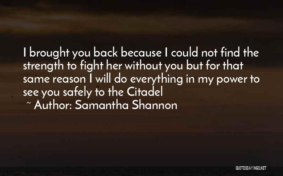 Citadel Quotes By Samantha Shannon