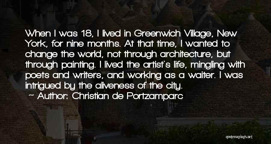 City And Village Life Quotes By Christian De Portzamparc
