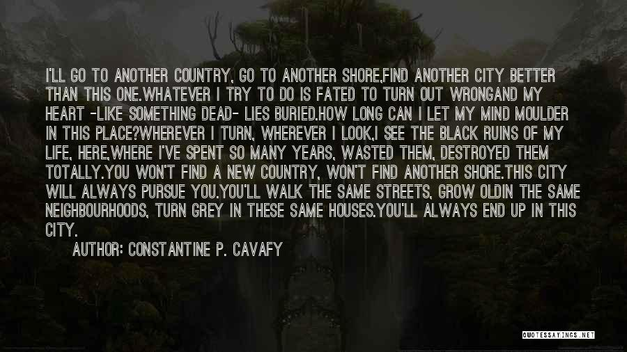 City Life Versus Country Life Quotes By Constantine P. Cavafy