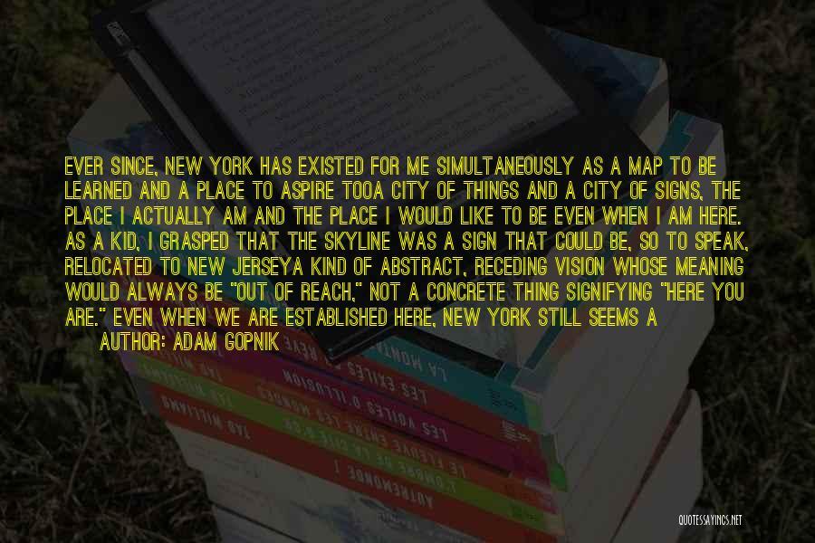 City Skyline Quotes By Adam Gopnik