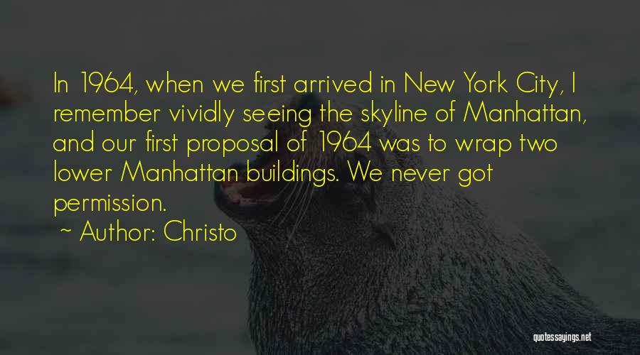 City Skyline Quotes By Christo