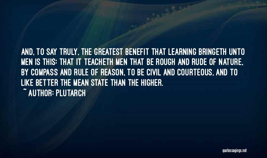 Civil Quotes By Plutarch