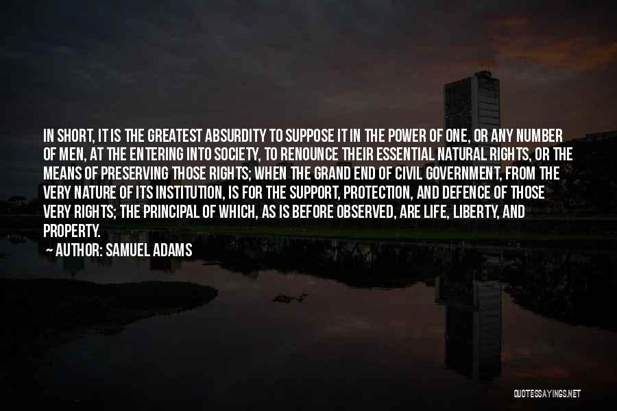 Civil Quotes By Samuel Adams