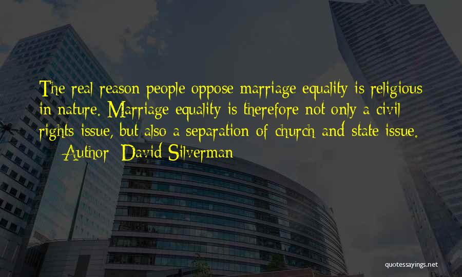 Civil Rights And Equality Quotes By David Silverman