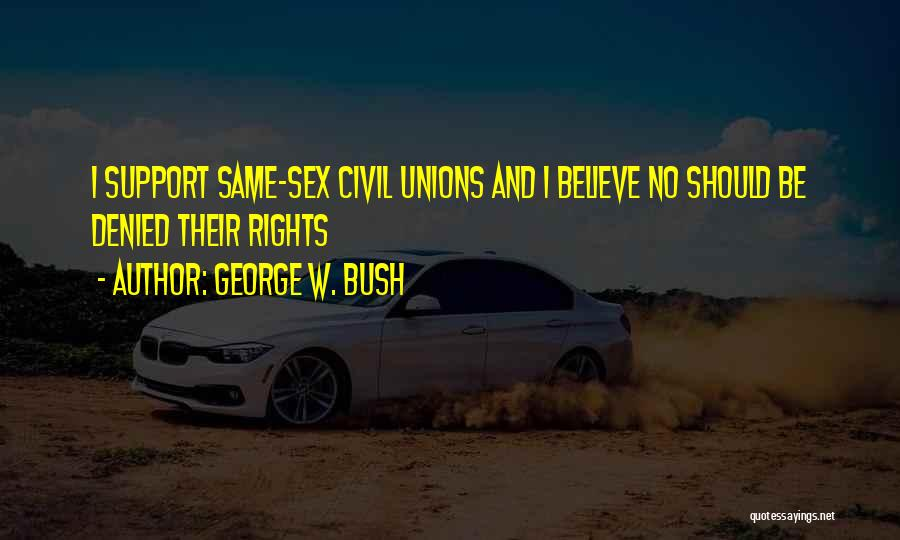 Civil Rights And Equality Quotes By George W. Bush