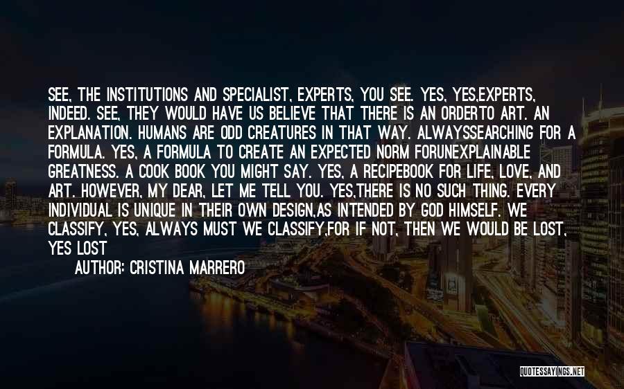 Classification Quotes By Cristina Marrero