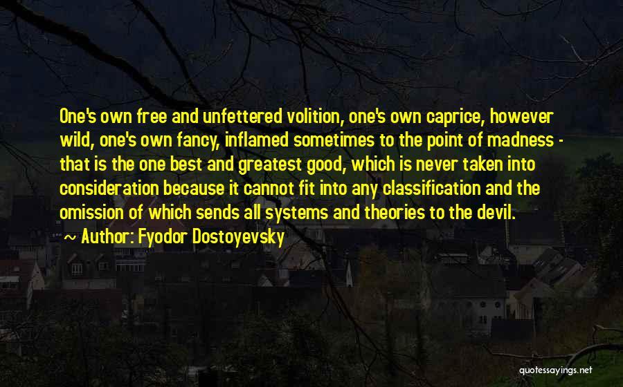 Classification Quotes By Fyodor Dostoyevsky