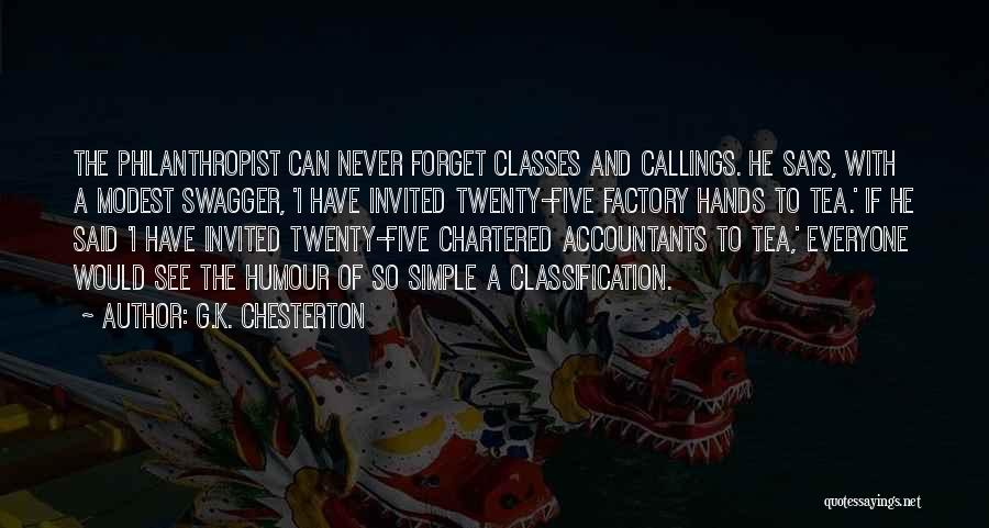 Classification Quotes By G.K. Chesterton