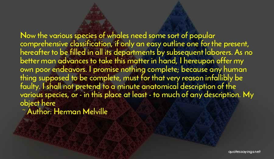 Classification Quotes By Herman Melville