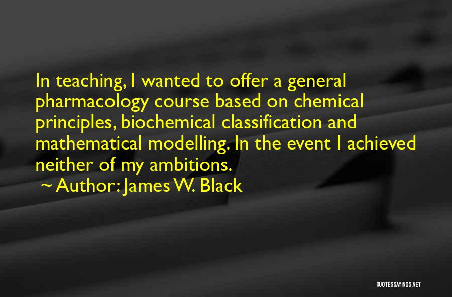 Classification Quotes By James W. Black