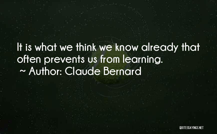 Claude Bernard Quotes 2031035