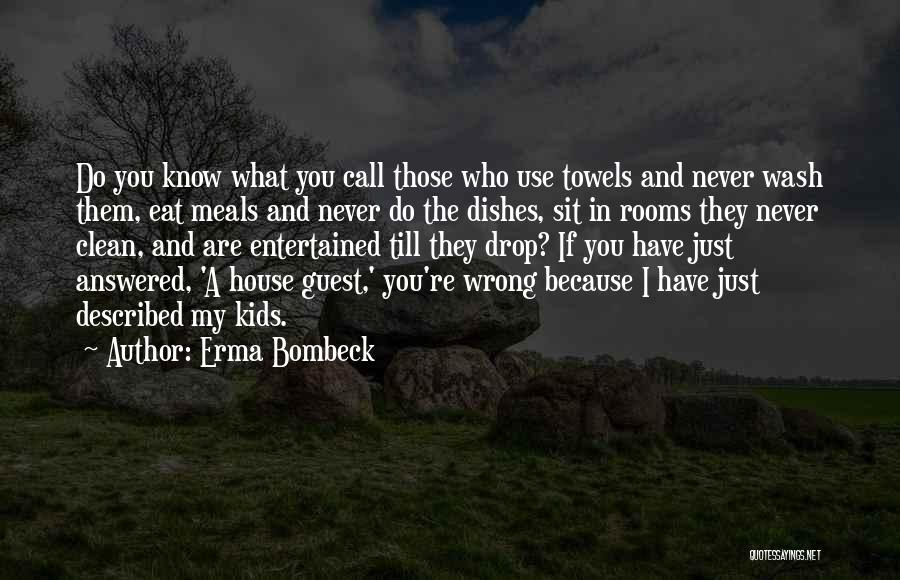Clean House Mom Quotes By Erma Bombeck