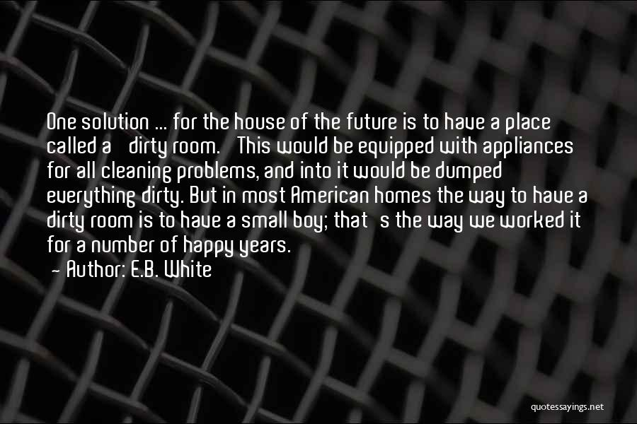 Cleaning The House Quotes By E.B. White