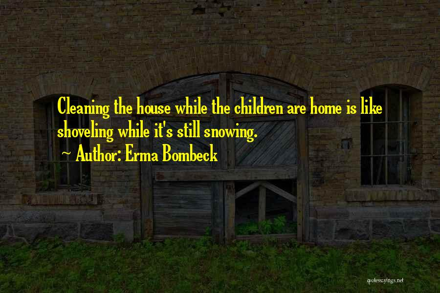 Cleaning The House Quotes By Erma Bombeck