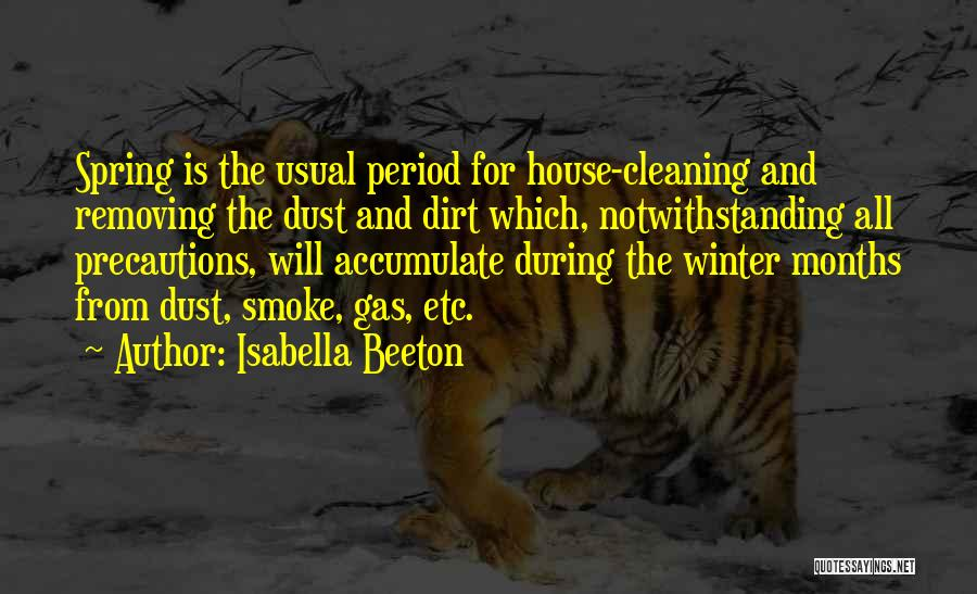 Cleaning The House Quotes By Isabella Beeton