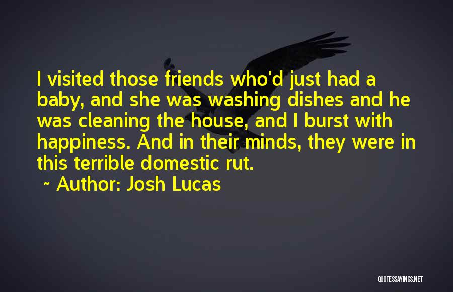 Cleaning The House Quotes By Josh Lucas