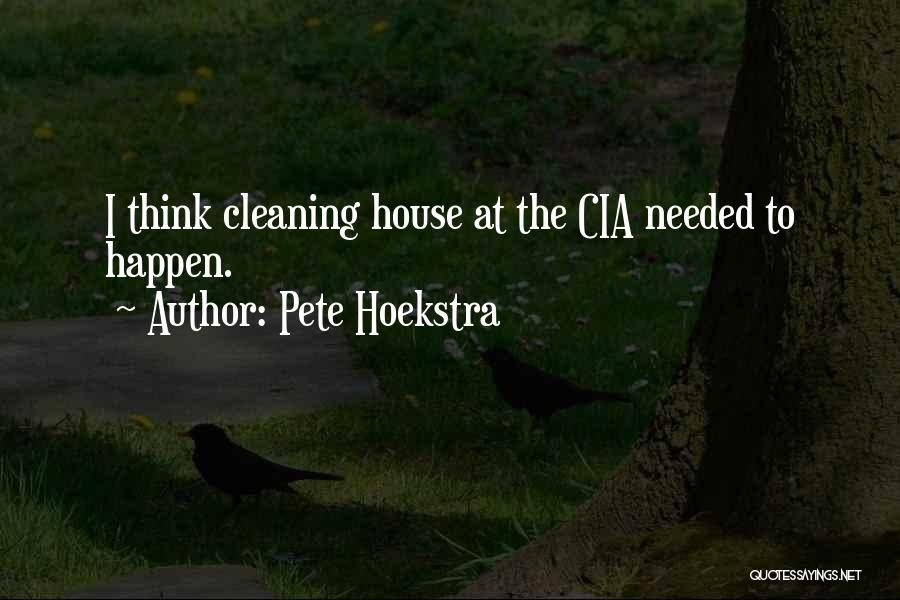 Cleaning The House Quotes By Pete Hoekstra