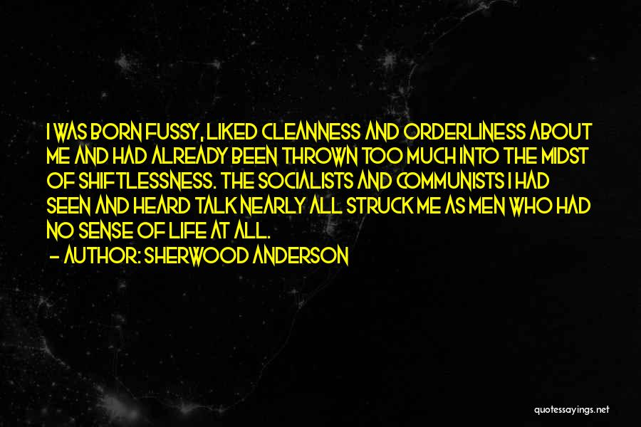 Cleanliness And Orderliness Quotes By Sherwood Anderson