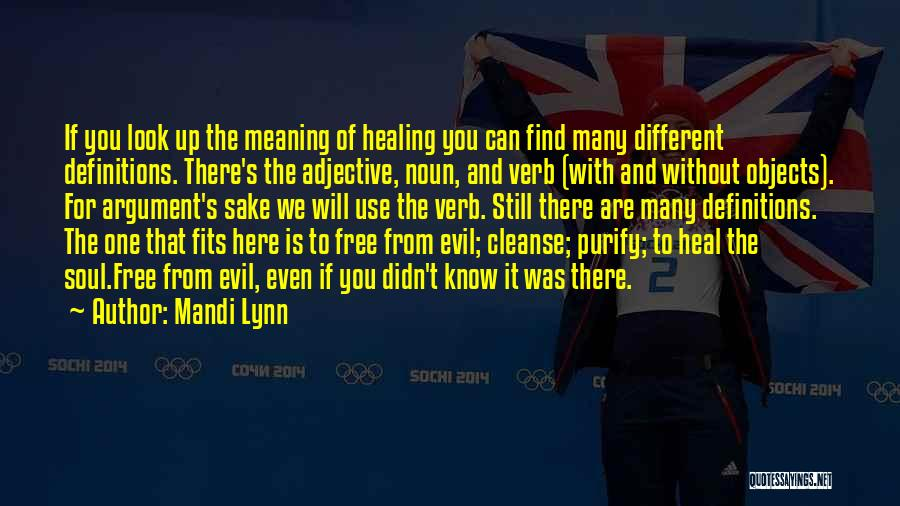 Cleanse Yourself Quotes By Mandi Lynn