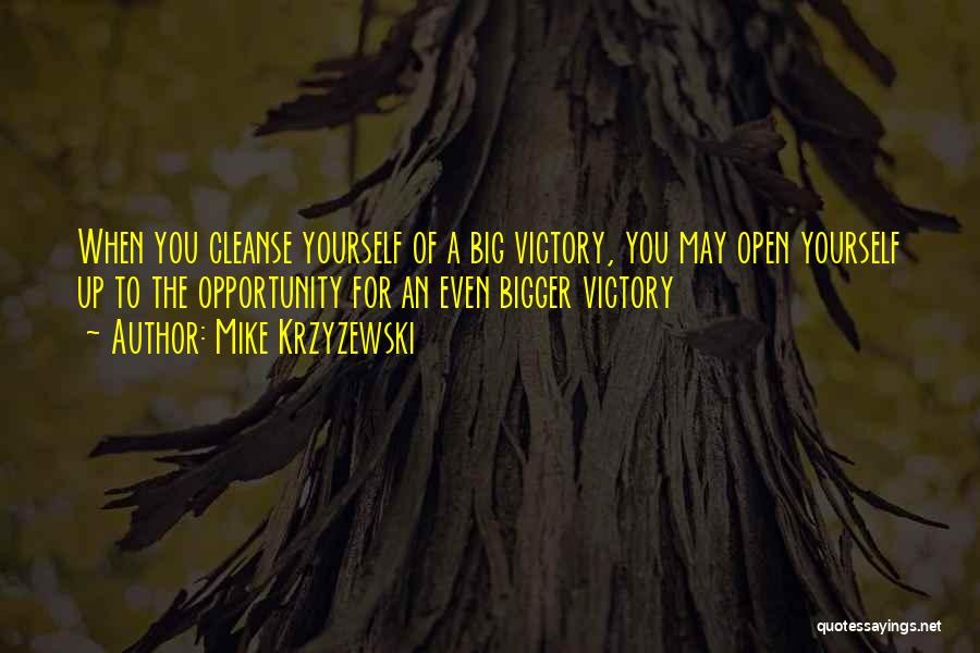 Cleanse Yourself Quotes By Mike Krzyzewski