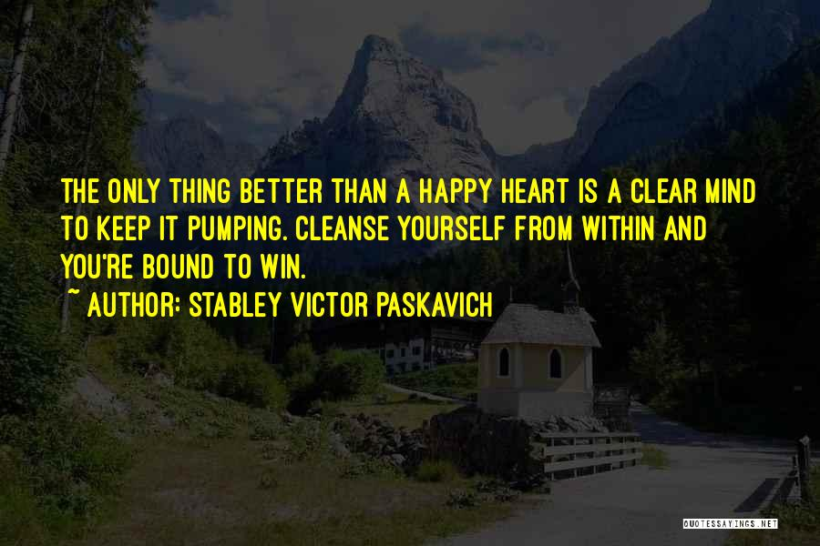 Cleanse Yourself Quotes By Stabley Victor Paskavich