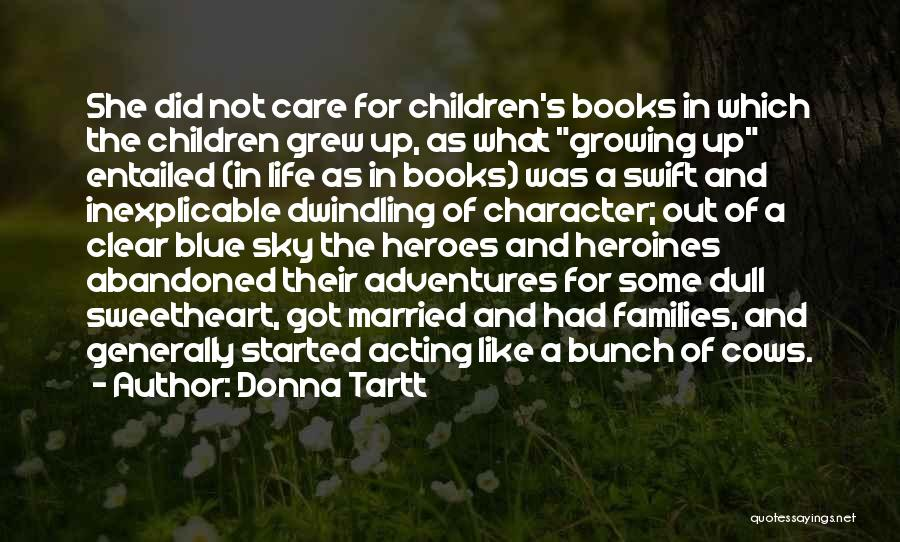 Clear Blue Sky Quotes By Donna Tartt