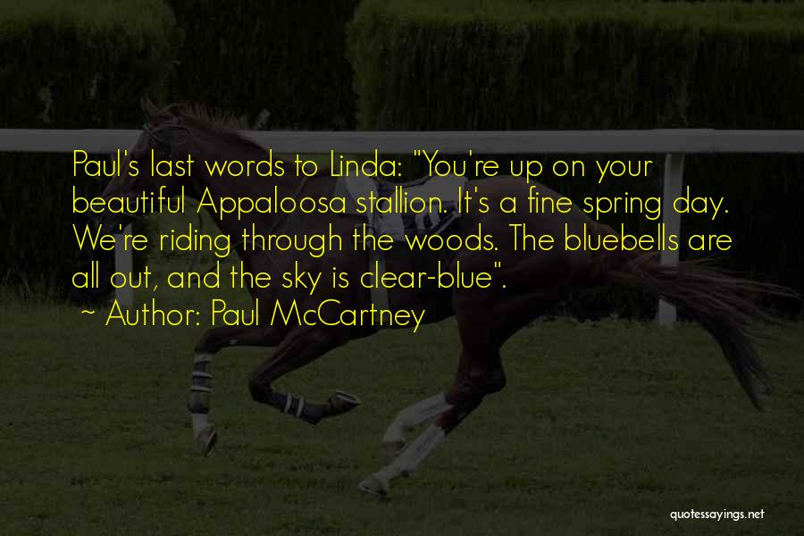 Clear Blue Sky Quotes By Paul McCartney