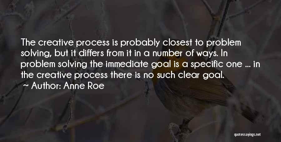 Clear Goals Quotes By Anne Roe