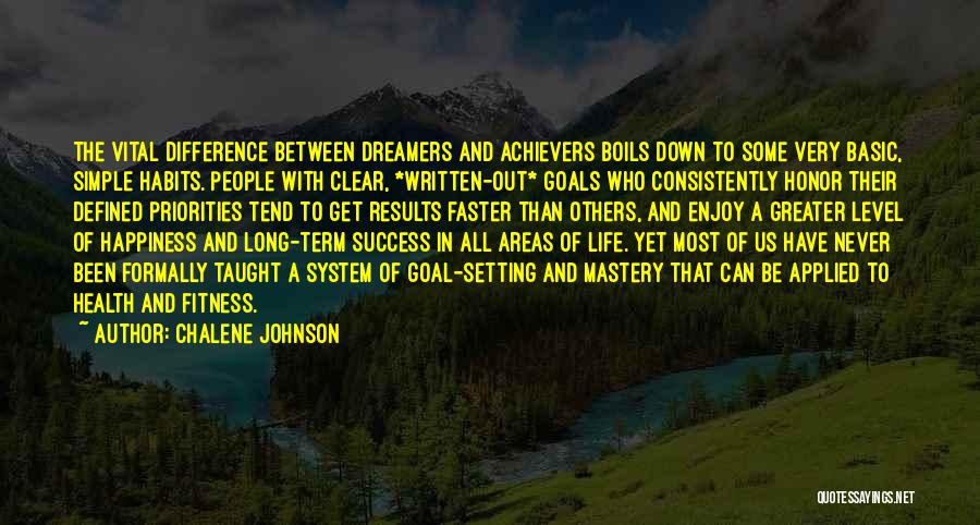 Clear Goals Quotes By Chalene Johnson