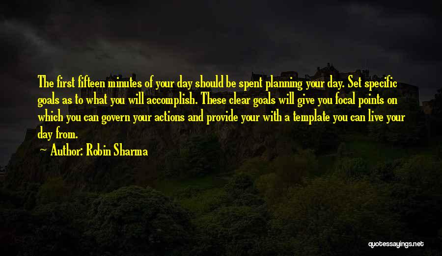 Clear Goals Quotes By Robin Sharma