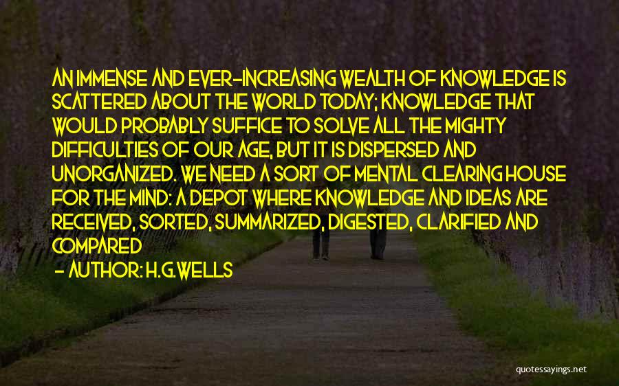 Clearing The Mind Quotes By H.G.Wells