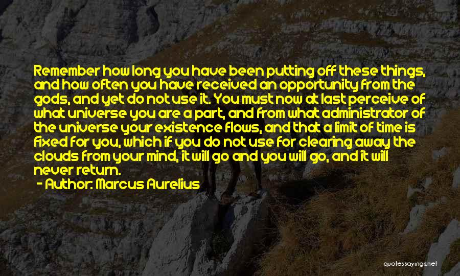 Clearing The Mind Quotes By Marcus Aurelius