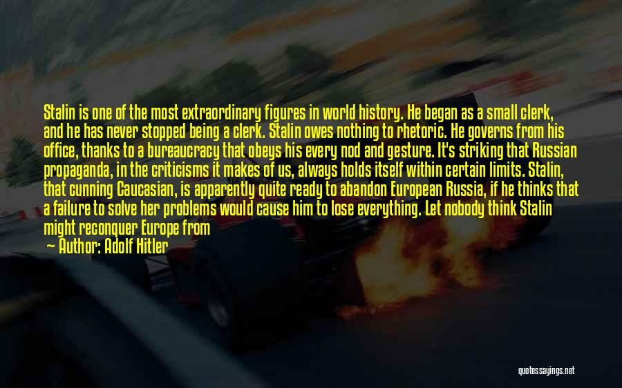 Clerk 2 Quotes By Adolf Hitler