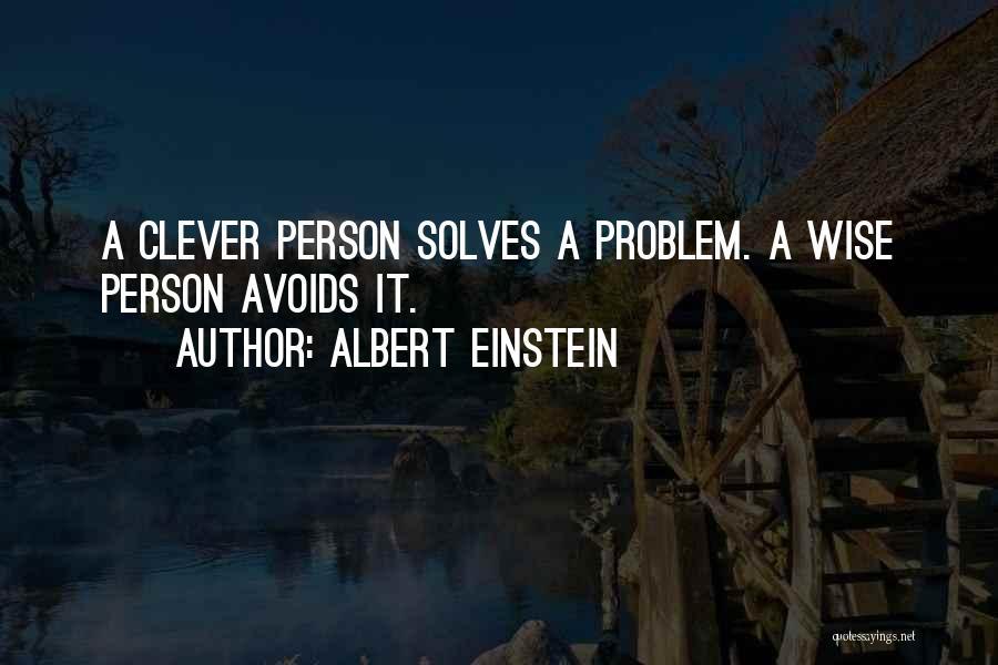 Clever Person Quotes By Albert Einstein