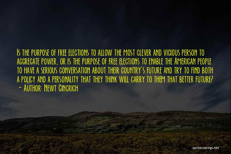Clever Person Quotes By Newt Gingrich