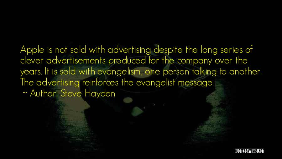 Clever Person Quotes By Steve Hayden