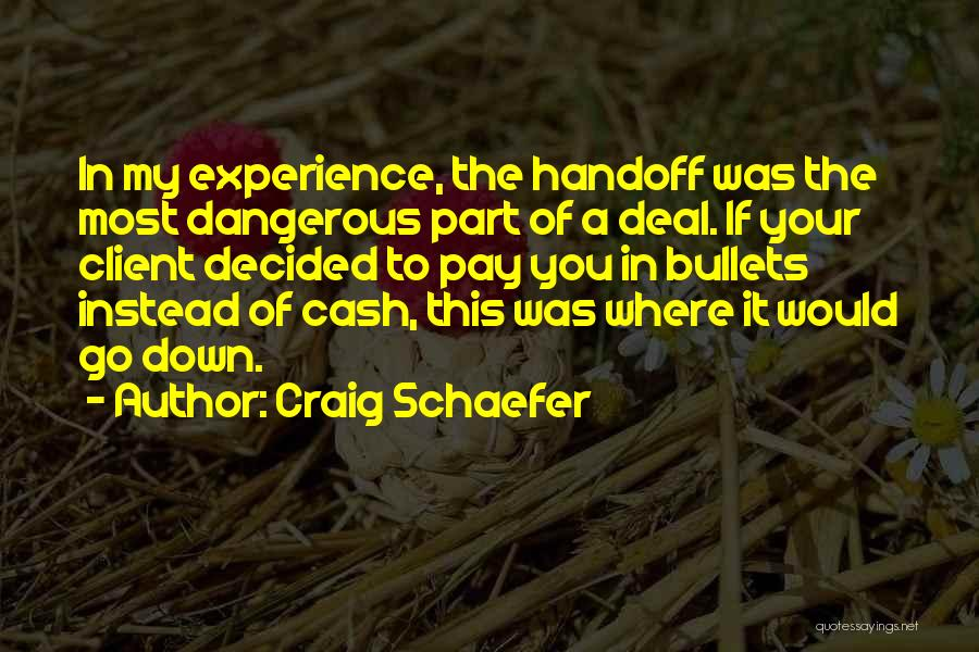 Client Experience Quotes By Craig Schaefer