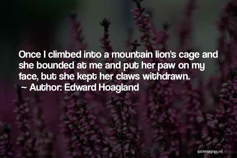 Climbed A Mountain Quotes By Edward Hoagland