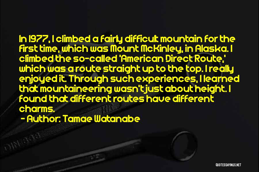 Climbed A Mountain Quotes By Tamae Watanabe