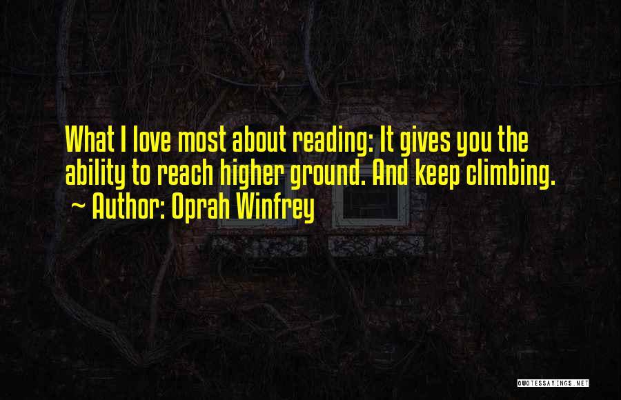 Climbing Higher Quotes By Oprah Winfrey